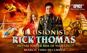 Illusionist Rick Thomas information, schedule, and show tickets for 2018 & 2019 in Branson, MO.