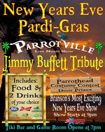 Parrotville New Years Eve Pardi-Gras - Branson, Missouri 2020 / 2021 Information, discount show tickets, schedule, and map